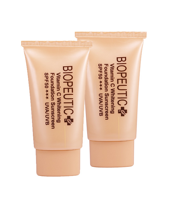 Vitamin C Whitening Foundation Sunscreen SPF50 UVA/UVB 20g *2